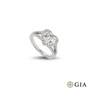 18k White Gold Heart Shaped Diamond Ring 1.25ct G/VVS2